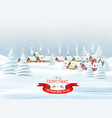 holiday christmas background with a a winter vector image