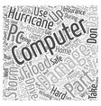 Hurricane Proof Computer text background wordcloud vector image vector image