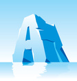 ice letter A vector image vector image