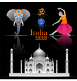 India travel set vector image vector image