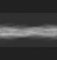 isolated horizontal transparent fog mist or smoke vector image