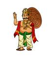kerala onam festival mahabali also kown maveli vector image vector image
