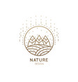 logo fields and forest vector image