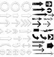 lots black arrows set vector image
