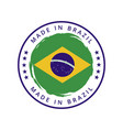 made in brazil round label vector image vector image