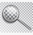 magnifying glass lens is a transparent background vector image