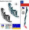 Map of Magallanes vector image vector image