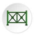 metal fence icon circle vector image vector image