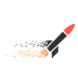 missile launch dissolving pixel icon vector image