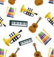 music seamless pattern vector image vector image
