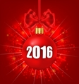 New Year Glowing Background with Christmas Balls vector image vector image
