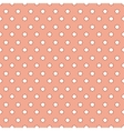 Pattern with dots seamless orange background vector image
