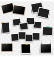 photo frame set with transparent background vector image vector image