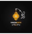 ramadan lantern design background vector image vector image