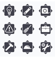 Repair construction icons Engineering signs vector image vector image