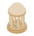 Rotunda icon isometric 3d style vector image vector image