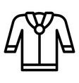school blouse icon outline style vector image vector image