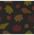 Seamless autumn pattern from skeletons of leaves vector image