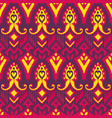 seamless pattern with embroidery ethnic ikat vector image vector image