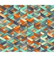 Seamless Triangle Grid Teal Orange Color vector image vector image