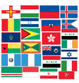 set 25 flags with countris started with g h i vector image