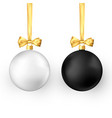 set christmas balls realistic glossy xmas vector image
