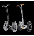 set Hand drawn segwayTwo-wheeled motorized vector image