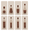 set of alcohol bottle vector image vector image