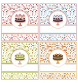 Set of cake cards vector image vector image