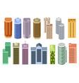 set of cartoon skyscrapers vector image vector image