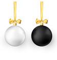 set of christmas balls realistic glossy xmas vector image
