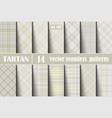 set pastel tartan seamless pattern vector image vector image