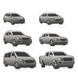 set various city urban traffic vehicles vector image