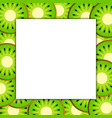 square frame on ripe kiwi vector image vector image
