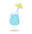 summer cocktail icon on white background for vector image vector image