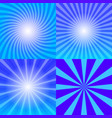 sunray background set vector image