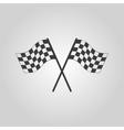 The checkered flag icon Finish symbol Flat vector image