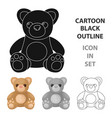 toys donation icon in cartoon style isolated on vector image vector image