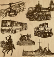 Transportation - An han drawn pack vector image