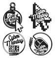 vintage cyber monday emblems vector image