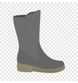 waterproof shoe icon flat style vector image vector image