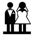 wedding married men female icon vector image vector image