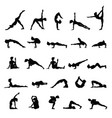 women silhouettes collection of yoga poses asana vector image vector image