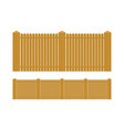 wooden fence set isolated on white vector image vector image