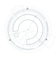 Futuristic user interface HUD Virtual graphic vector image