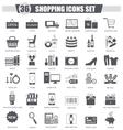 finance Shopping e-commerce black icon set vector image
