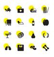 16 healthy icons vector image vector image