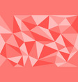 abstract red geometric polygon background compose vector image