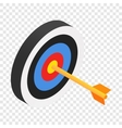 Arrow in target isometric 3d icon vector image vector image