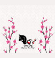 blossom chinese new year 2018 year of the dog vector image vector image